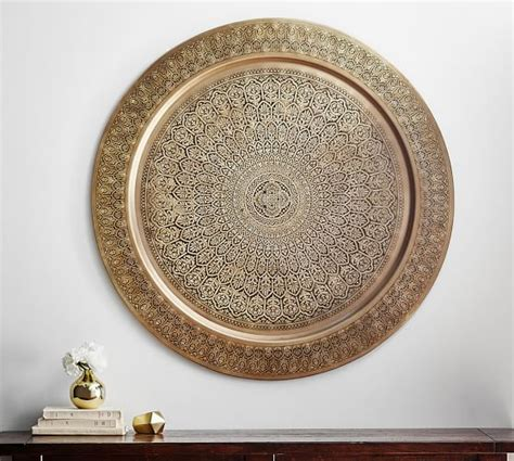 Decorative Metal Disc   Brass   Pottery Barn