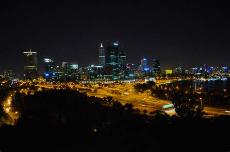 perth  night  stock photo public domain pictures