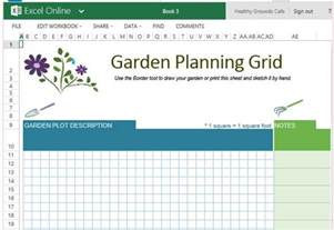 Garden Layout Template Free Garden Planner Template For Excel