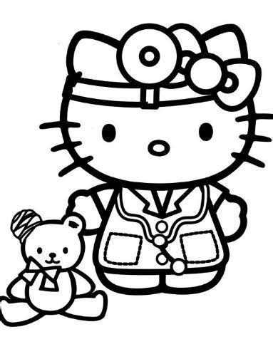 imagenes de hello kitty a blanco y negro hello kitty doctora dibujos de hello kitty