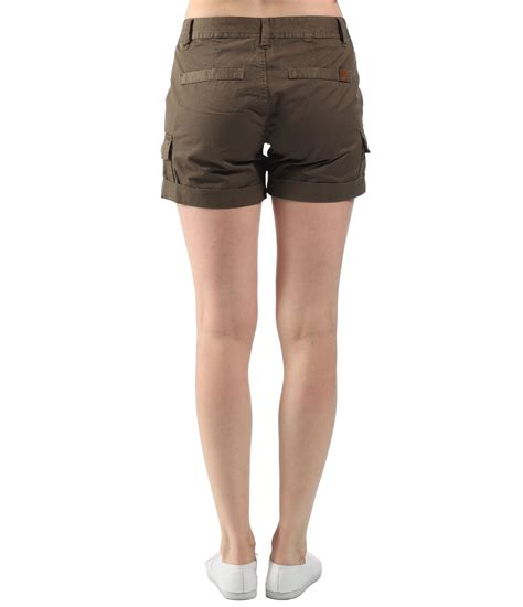 bench womens ellenhall cargo shorts in green lyst