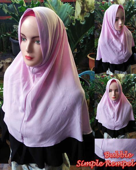Jilbab Instan Rempel khimar simple rempel sentral grosir jilbab kerudung i supplier jilbab i retail