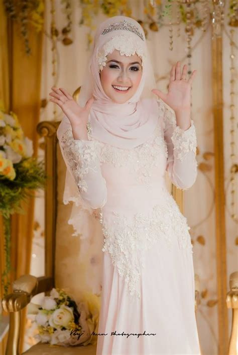 Dhea Dress Saja Tanpa Khimar gaun pengantin muslimah elegan model terbaru