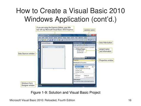 Microsoft Visual Basic ppt microsoft visual basic 2010 reloaded fourth edition powerpoint presentation id 268170