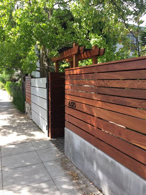 modern wood fence wood metal and concrete fence rmn