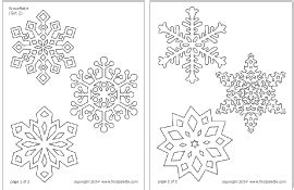 a4 printable snowflake template snowflake window clings craft kids crafts