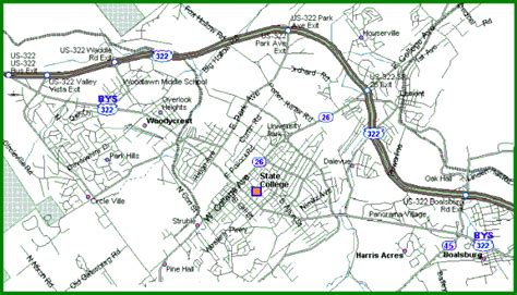 state college pennsylvania map state college area