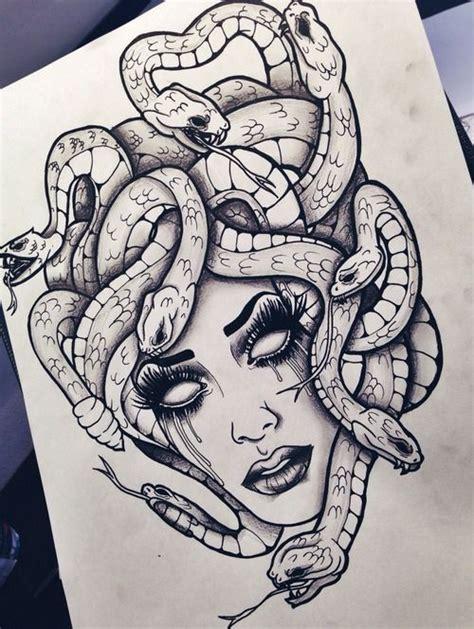 tattoo illustration pinterest die besten 17 ideen zu medusa tattoo auf pinterest