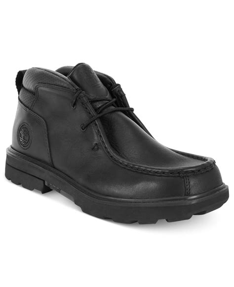 black rugged boots timberland rugged boots in black for lyst