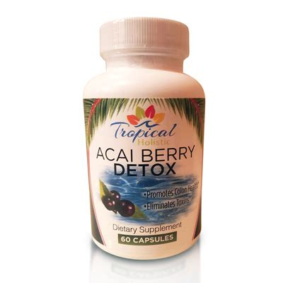 Strongest Detox by Tropical Holistic Acai Berry Detox Dietary Supplement 60