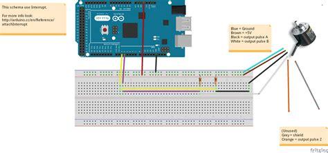 fritzing project read omron encoder arduino mega interrupt