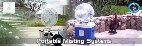 portable misting fans with tank portable misting outdoor cooling misting system fan