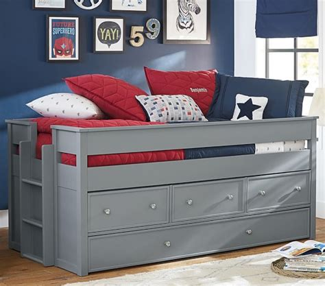 captain bed with trundle elliott captain s bed trundle pottery barn