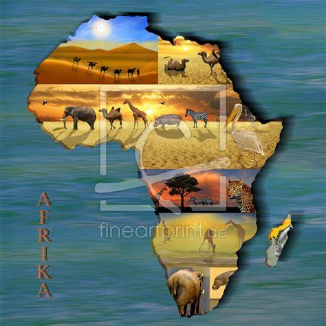 kontinent afrika collage als leinwand von mausopardia