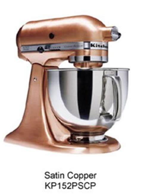 Satin Copper Kitchenaid Mixer by Kitchenaid Ksm152pscp Custom Metallic Series Mixer Satin