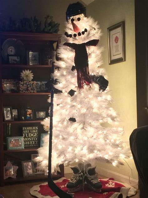 hockey christmas tree got stick pinterest trees