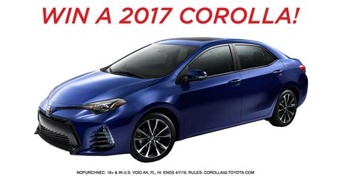 Auto Sweepstakes 2017 - toyota sweepstakes 2015 autos post