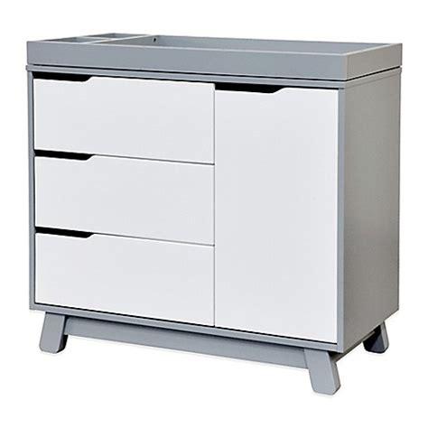 grey and white baby dresser babyletto hudson 3 drawer changer dresser in grey and