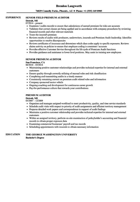 Premium Auditor Cover Letter by Premium Auditor Sle Resume Jan Patocka Heretical Essays Sle Questionnaire Cover Letter