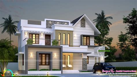 Living Kitchen Dining Open Floor Plan simple and elegant villa kerala home design and floor plans