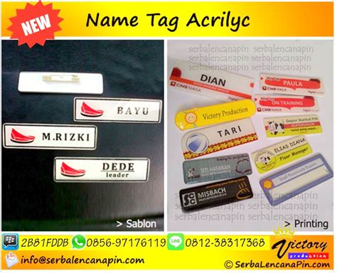 Akrilik Acrylic Name Tag bikin nametag acrylic bikin papannamadada akrilik 0812