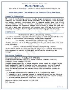 Master Scheduler Sle Resume by Sles Impressions Resume Center