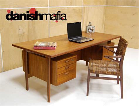 danish mid century modern desk huge mid century danish modern teak kai kristiansen office