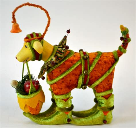 department 56 christmas krinkles jester dog figure