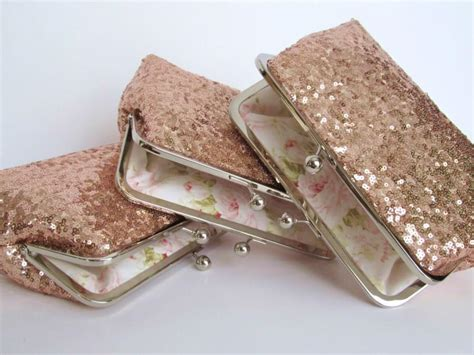 Wedding Accessories Sale by Sale Gold Blush Sequin Clutch Set Of 3 Wedding