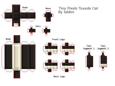 Minecraft Papercraft Cat - papercraft cat pictures to pin on pinsdaddy