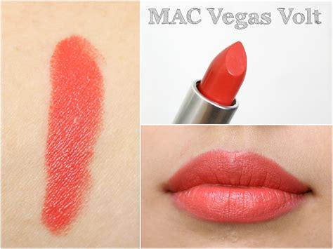 Lipstick Mac Vegas Volt mac lipstick swatch book liviatiana