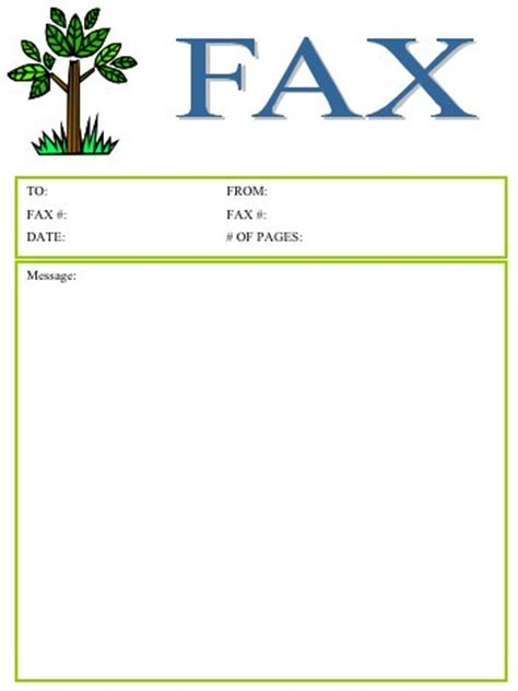 cute printable fax cover sheets tree fax cover sheet at freefaxcoversheets net