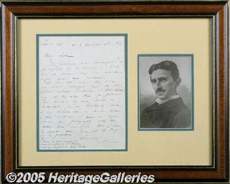 Nikola Tesla Autograph Nikola Tesla Autograph Letter Signed In 1898