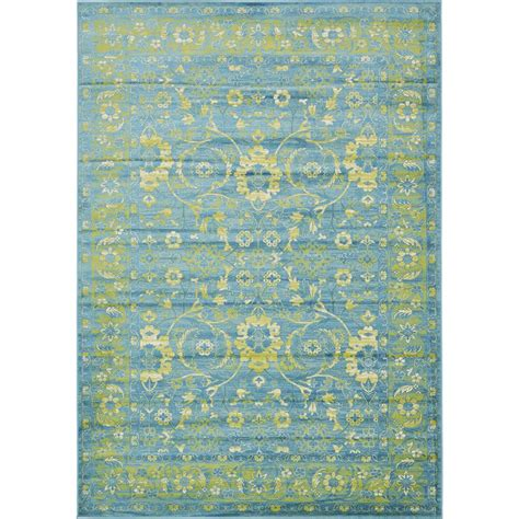 personalized rugs for home unique loom istanbul blue 7 ft x 10 ft area rug 3134845 the home depot