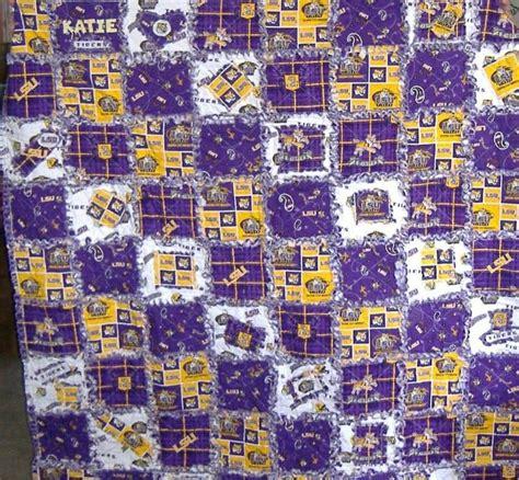 Lsu Quilt by Lsu Rag Quilt I Made Quilts 1