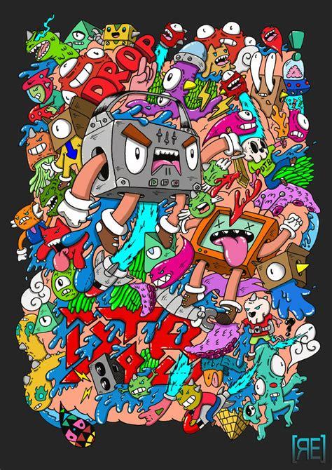 i doodle t shirts doodle drop the bassline t shirt design 2 by redstar94