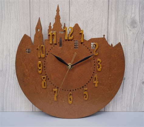Wood Clocks Handmade - wall clock city wood clock unique wall clock handmade