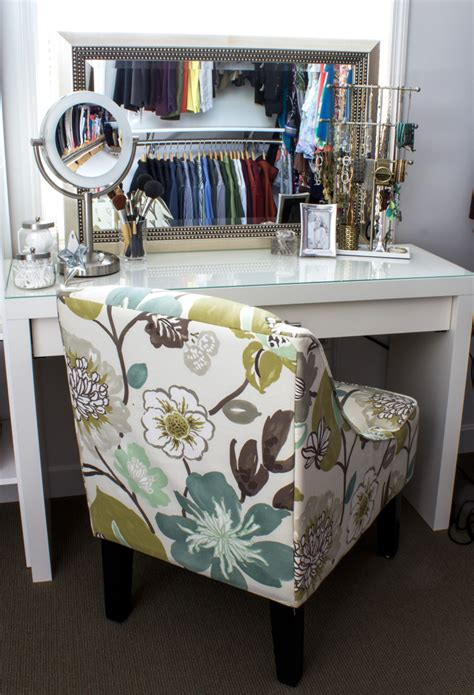 turn desk into vanity convert an ikea dressing table into a makeup vanity