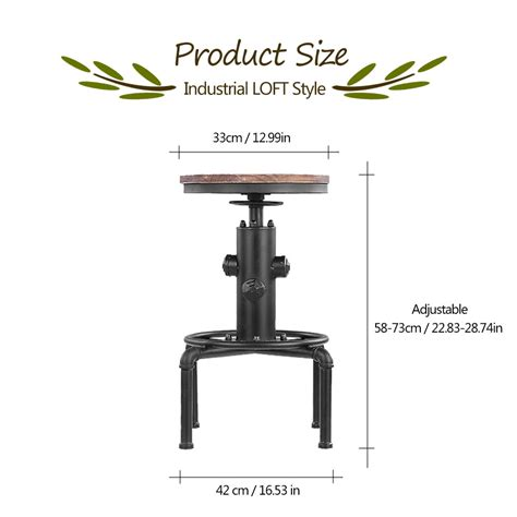 counter height dining table with footrest adjustable height bar stool rolling bar stools ikayaa metal industrial bar stool height adjustable swivel