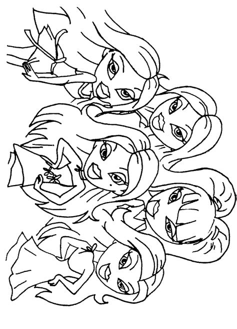 Bratz Line Art Colouring Pages Coloring Home Line Coloring Pages