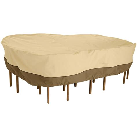 veranda collection patio furniture covers classic accessories veranda rectangular oval patio table chair set cover durable and by