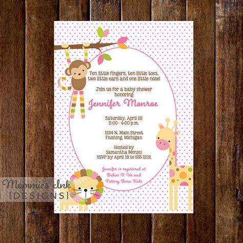 Pink Safari Baby Shower Theme by Pink Safari Baby Shower Invitation Baby Shower Invitation