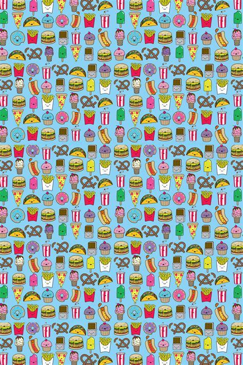 food pattern wallpaper hd junk food pattern iphone wallpaper hd