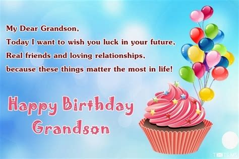 Happy Birthday Wishes To Grandson Birthday Wishes For Grandson Messages Quotes Images For