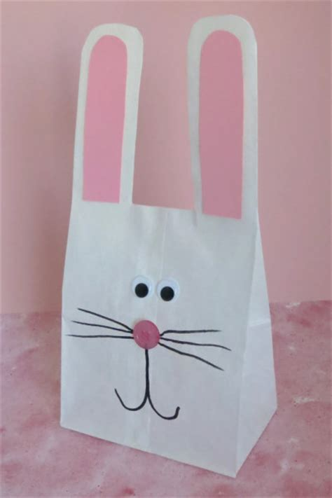 Paper Bag Bunny Craft - paper bag bunny family crafts