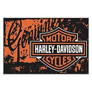 harley davidson curtains and rugs com harley davidson distressed tufted rug 20 quot x 30 quot