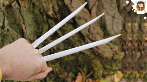 como hacer las garras de wolverine garras de papel