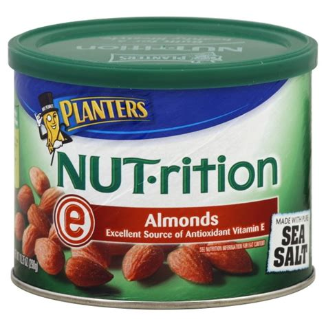 Planters Almonds by Planters Nut Rition Almonds Lightly Salted
