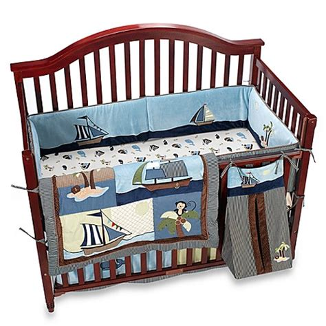 Ahoy Mate Crib Bedding Nojo 174 Ahoy Mate 6 Piece Crib Bedding Set Bed Bath Beyond
