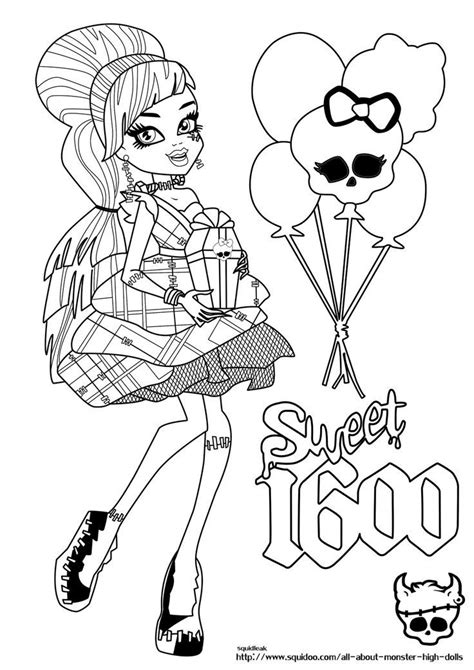Frankie Stein Monster High Coloring Page Fun Stuff High Coloring Pages Frankie Stein